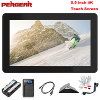 Pergear A6 Plus Monitor with Battery 5.5 Inch LED Touch Screen 1920*1080 4K HDMI 3D LUT On Camera Field DSLR Monitor w/ Tilt Arm