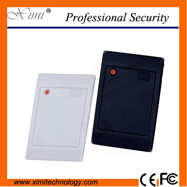 RFID card reader rice white 125KHZ EM card ID card reader for access control system waterproof card reader