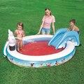 231*165*79 cm Circular bebê Grande Piscina Inflável com Slide Piscina Inflável Do Bebê da Criança Crianças Infantil banho de Banheira inflável
