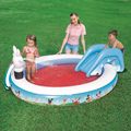 231*165*79cm Circular baby Large Inflatable Swimming Pool with Inflatable Slide Pool Child Baby Kids Infant Bath Tub inflatable