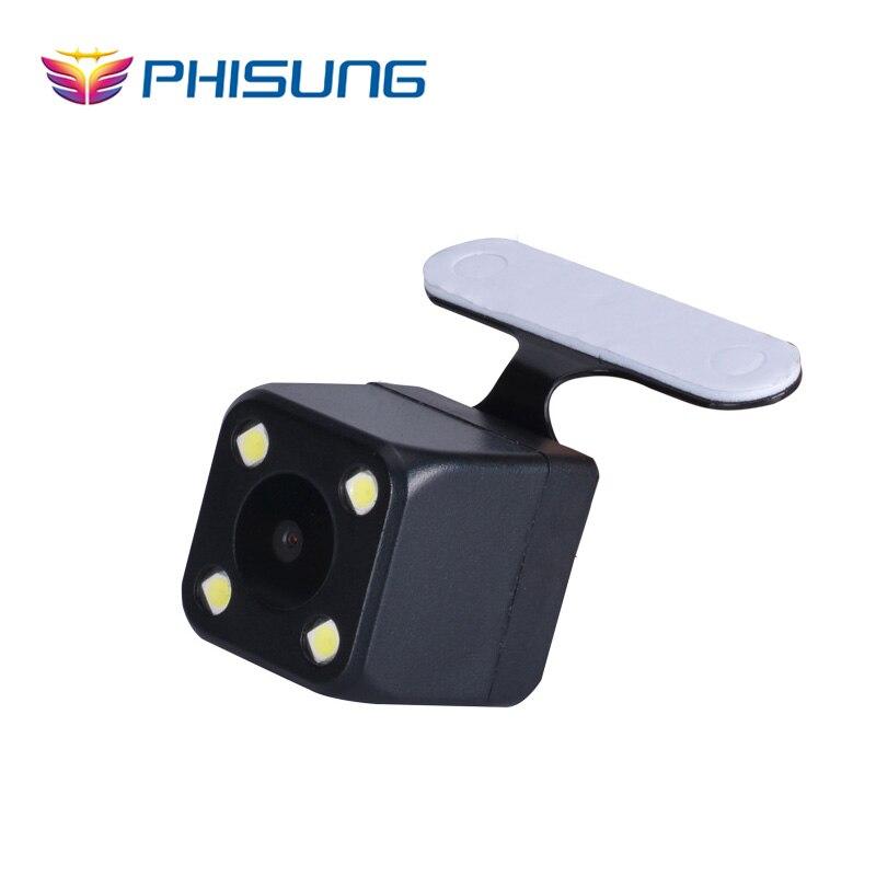 imágenes para Kits de cámara Trasera con 6 metros de cable de señal Digital especial para Phisung Android GPS de doble lente de la cámara del coche del Espejo