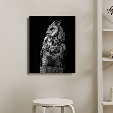 Owl Animals Photography Wall Art Poster and Print Canvas Painting Calligraphy Decorative Picture for Living Room Home Decor