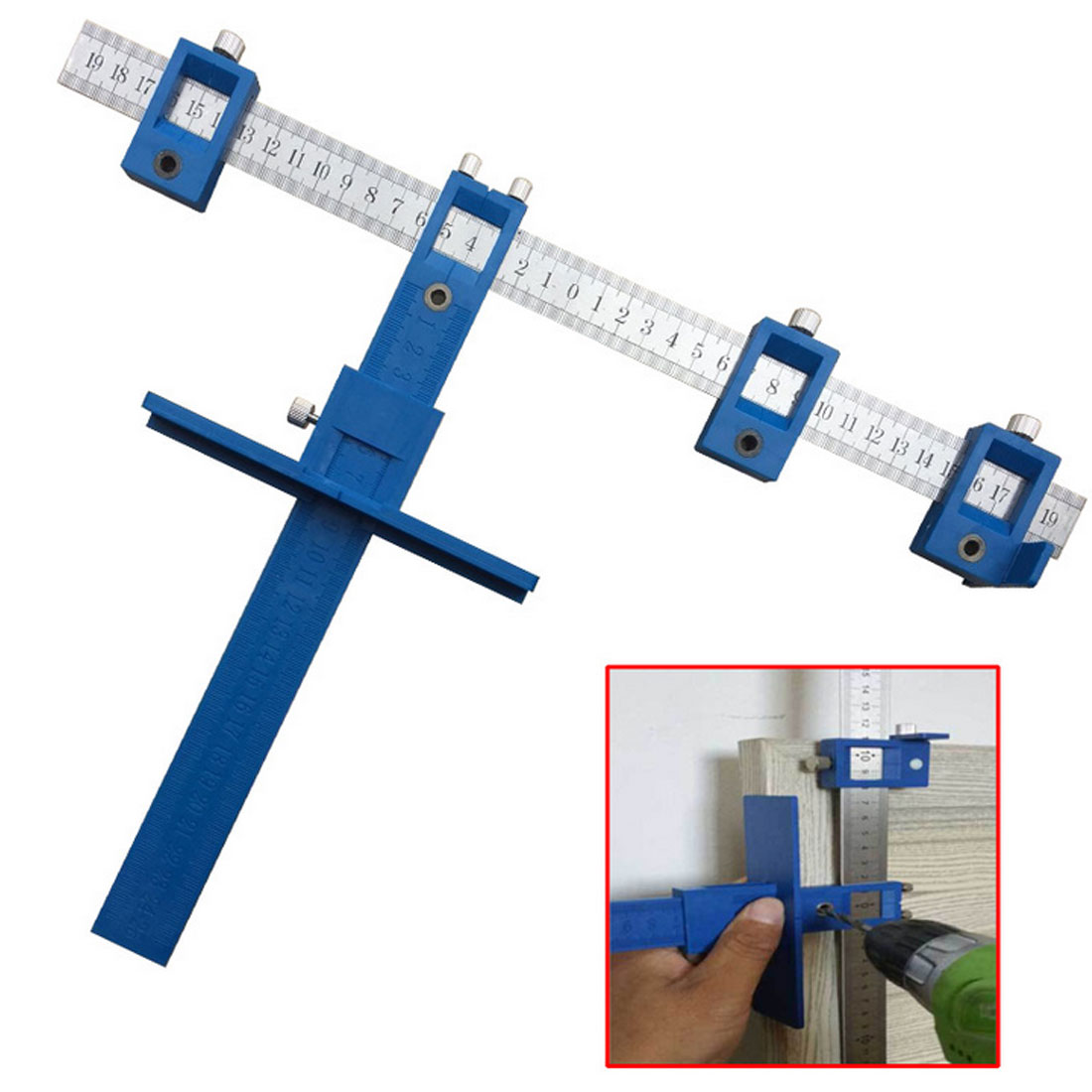 Hardware Jig Drawer Guide Sleeve Cabinet Pull Jig Wood Drilling Dowelling Hole Saw Master System Drill все цены