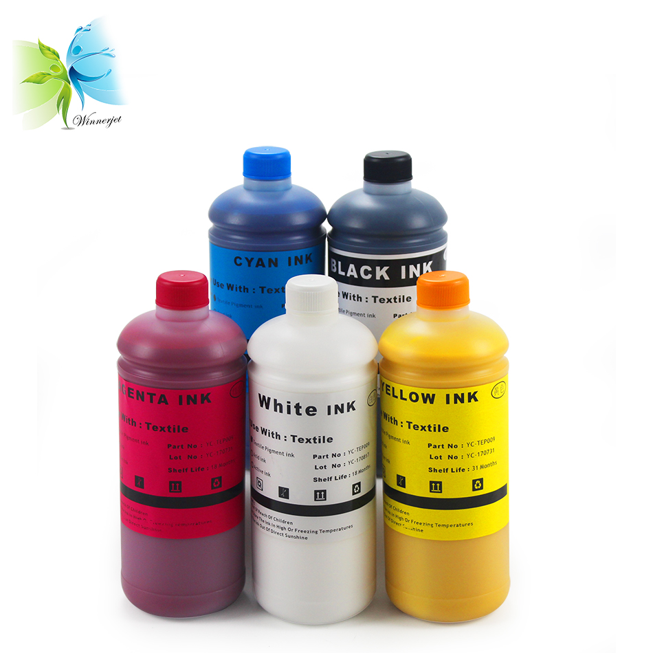 WINNERJET White Textile Ink DTG Inks for <font><b>Epson</b></font> 1390 L800 l1800 <font><b>f2000</b></font> <font><b>Printer</b></font> image