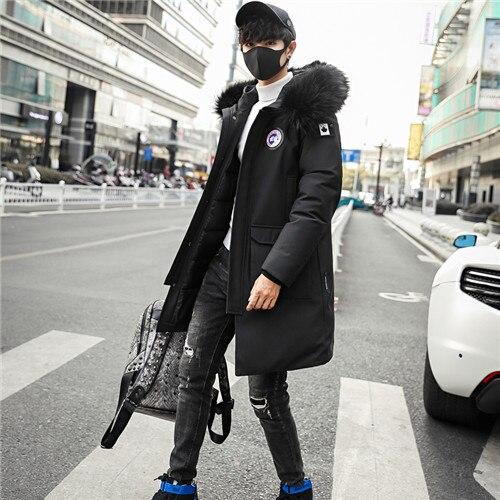 d91618c85b6 Dropwow Plus size M-5XL Winter Men Parka Jacket Long Coat Male Thick ...