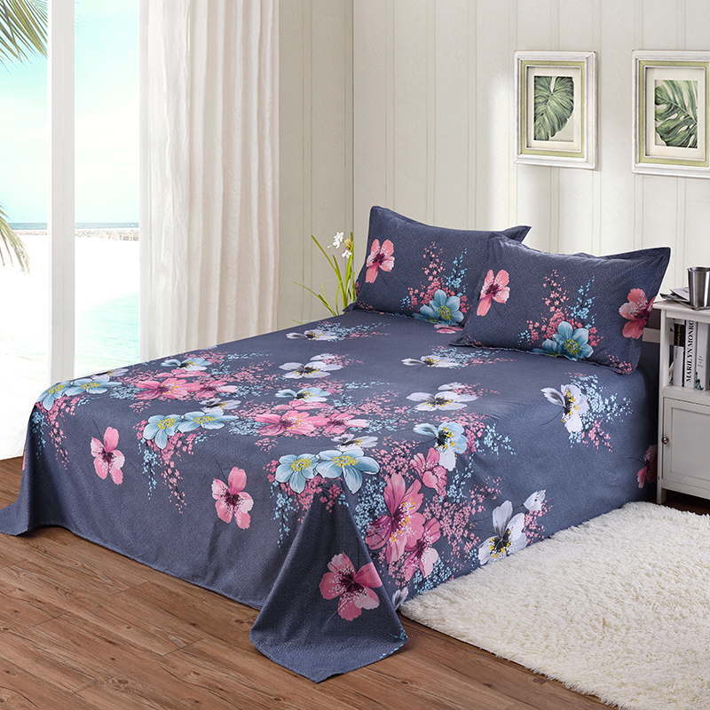 Floral Printed Pattern Flat Sheet Bed Sheet for Child Kids
