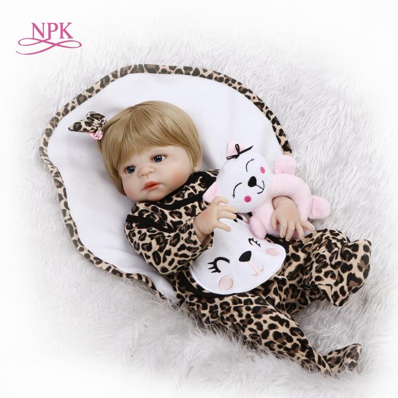 NPK 22inches 57cm full silicone vinyl reborn dolls newborn babies doll alive bebe girl child gifts