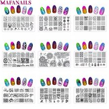 1pc QXE (1-20) Series Rectangle Stamping Plates 6*12 cm Owl/Lips/High Heel/Flower Pattern Summer Stamp Template Plate 20 Designs