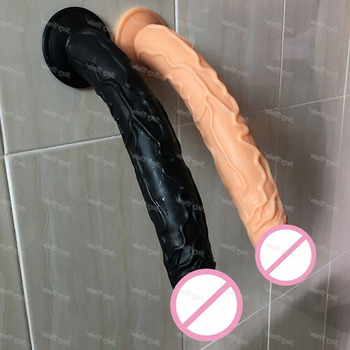 Высокое качество 35*5 см большой фаллоимитатор с присоской супер мягкий силиконовый конский фаллоимитатор секс-игрушки для женщин взрослых ...