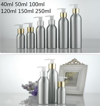 Free shipping 30pcs/lot Aluminum bottle bright gold tangent screw pump,mini travel bottles,cosmetic packaging,refillable bottles