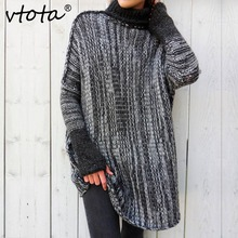 VTOTA 2018 Sweater Women Simple Autumn Winter Loose Knitted Oversized Baggy Sweaters Jumper Tops Pullovers Outwear
