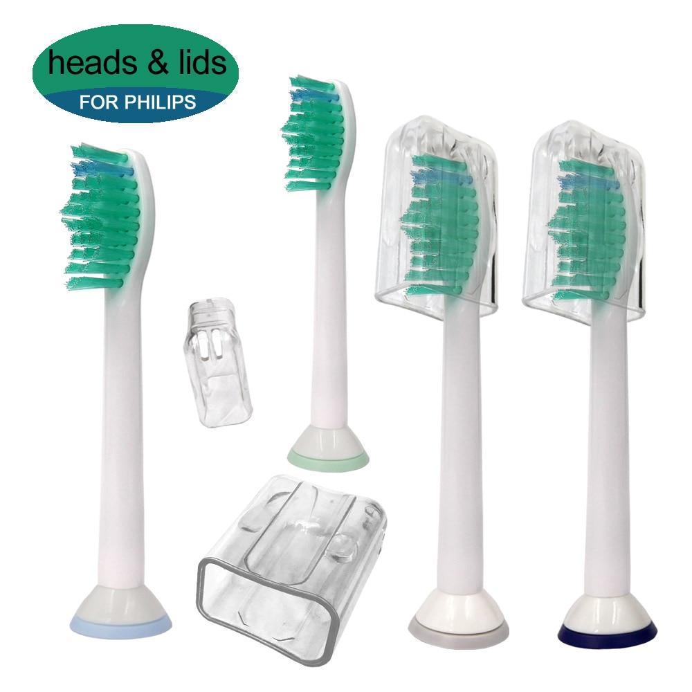 4pcs Electric Toothbrush Replacement Heads For Philips Sonicare HX6014 DiamondClean FlexCare ProResults HX6064 HX6930 HX9340