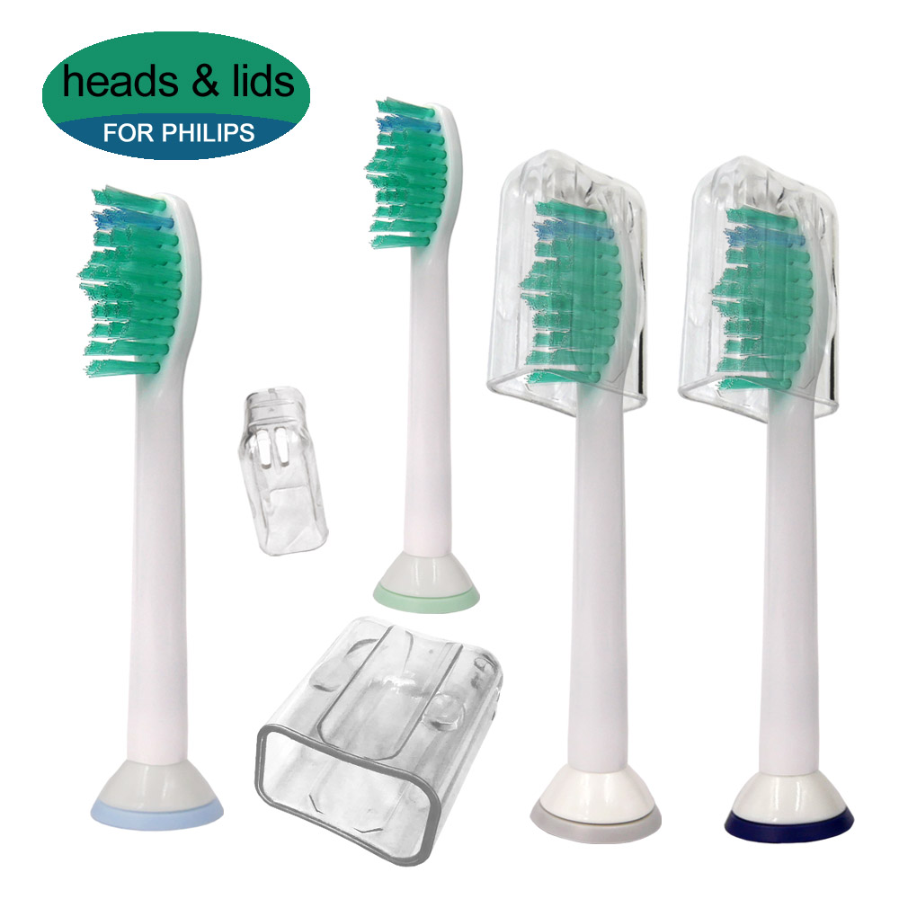 4pcs Electric Toothbrush Replacement Heads For Philips Sonicare HX6014 DiamondClean FlexCare ProResults HX6064 HX6930 HX9340 image
