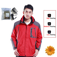 Outdoor Sports Jacket 7 4V 4200mA Winter Sportswear Waterproof Windstopper Thermal Jackets Men Coat Warm Electric