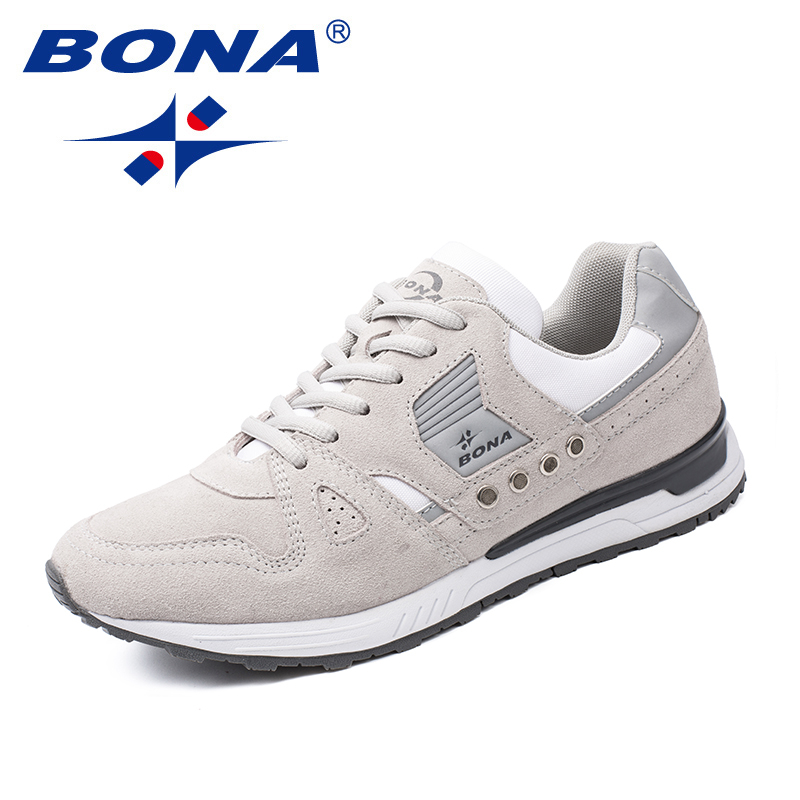 BONA nouveaux classiques Style hommes chaussures de course en daim hommes chaussures de sport à lacets hommes chaussures de Jogging baskets de plein air livraison gratuite rapide - 6