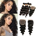 Loose Deep Brazilian Hair With Closure 4 Bundles Brazilian Virgin Hair With Closure Ali Julia Virgin Hair Deep Wave With Closure