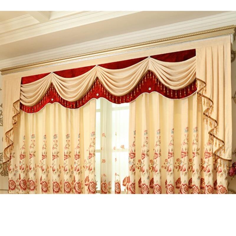 1PC Valance European Pelmet Curtains for Kitchen Window Valance ...