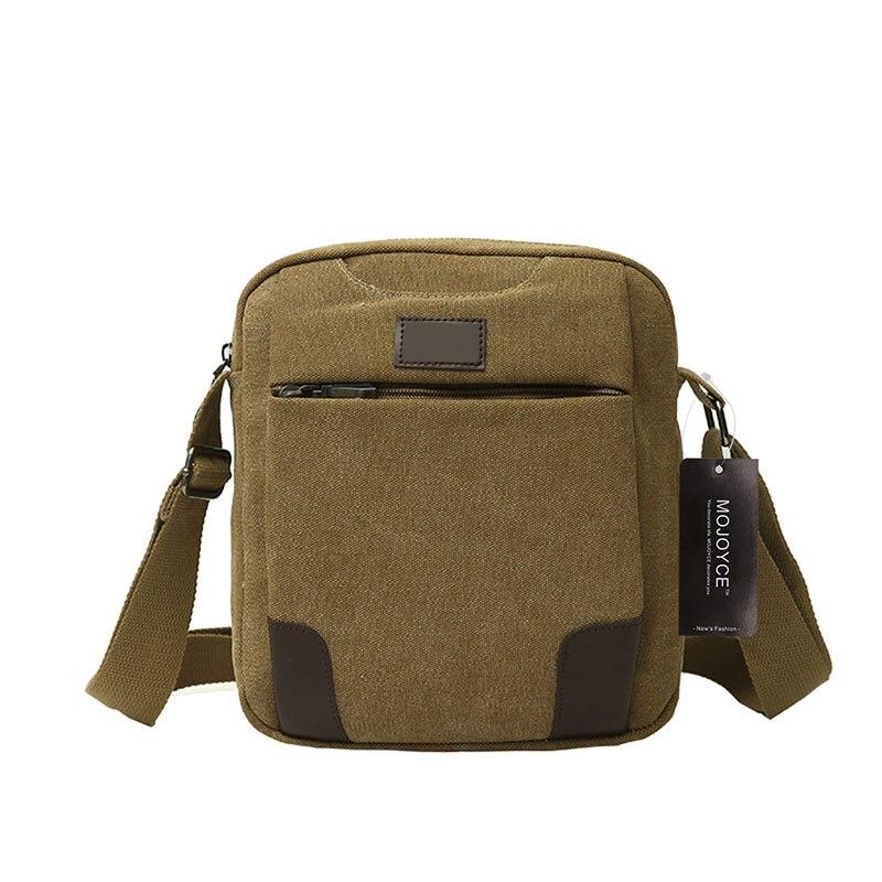 New Fashion Canvas Bag for Travel Casual Men Shoulder Crossbody Bags Solid Men Messenger Bags Multifunctional Men Handbag Bolsa