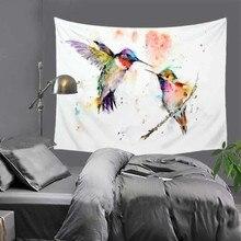 Картина маслом гобелены цветы и птицы настенные подвесные гобелены домашний декор пляжное полотенце Коврик для йоги одеяло для пикника скатерть