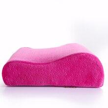 Nueva llegada de rose red de memoria almohada famoso sueño almohadas cuello para dormir caliente pure color de la felpa 50*30*10*7 cm solo tamaño almohadas