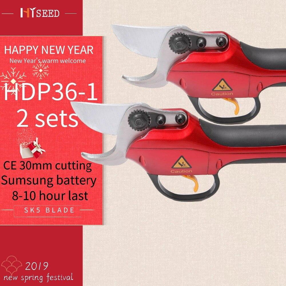 HDP36-1 deux ensembles Li batterie verger sécateurs sécateur meilleurs outils de jardin sécateurs électriques