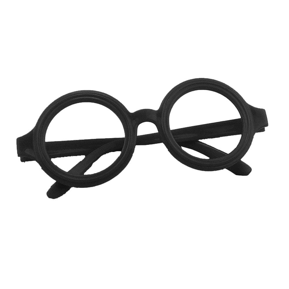 ba312425b1 1 set   12pcs Glasses Frame Harry Potter Wizard Nerd Round Black Frame  Glasses No Lenses Costume Eyewear (Black)