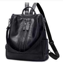Emarald Brand PU Leather Backpacks for Teenage Girls Zipper Backpack Female Bagp