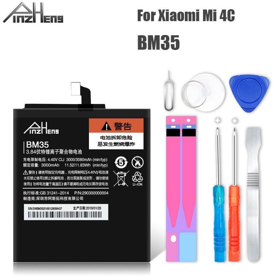 PINZHENG BM35 Batteria Per Xiao mi mi 4c batteria del Telefono Mobile Di Ricambio mi 4C BM35 4C BATTERIE AD ALTA Capacità Con strumenti gratuiti
