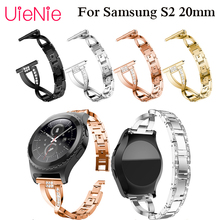 20mm Bracelet for Samsung Gear S2 watch band with rhinestone Strap For samsung Gear S2 Classic 42mm watch wristband accessories все цены