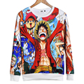 Alisister 2017 Fall Men/women Sweatshirts 3D Graphic Sweatshirt Naruto Print Anime One Piece Pullover Hoodie Autumn Tops Clothes