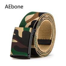 AEbone Камуфляжный ремень военная техника армейский ковбойский ремень в стиле вестерн для мальчика ремень Кемер ремень холст для джинсов YB009