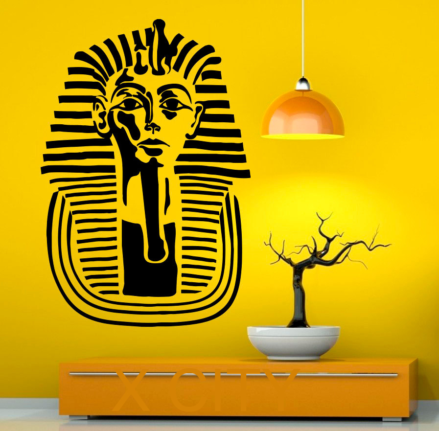 Egyptian Symbol Pharaoh Tutankhamun Decal Wall Vinyl Sticker Home Interior Removable Bedroom Home Decor 57 X