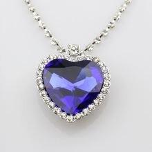 Австрийский кристалл сердце океана кулон ожерелье подарок для девушки друг любовь навсегда модные ювелирные изделия Серебряная цепочка Ожерелье