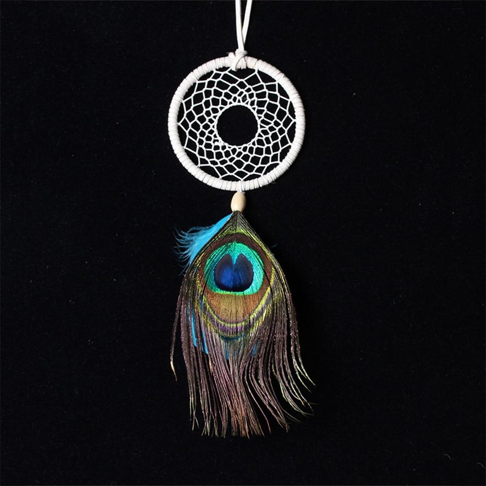 Handmade Dream Catcher Net Peacock Feather Wall Hanging ...