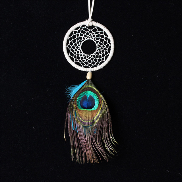 Dream Catcher Without Feathers Handmade Dream Catcher Net Peacock Feather Wall Hanging Decoration 18