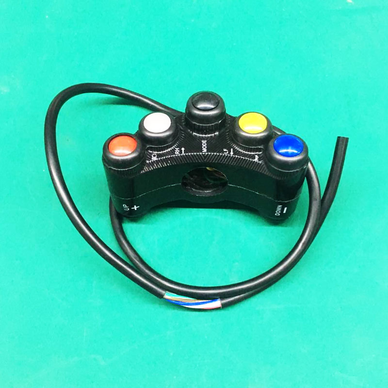 Motorcycle Switches 7/8 22mm Handlebar Mount Headlight Turn Signal Fog Lights Horn ON OFF Start Kill Switch 12V Aluminum image