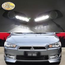 Для Mitsubishi Lancer EX 2009 2010 2011 2012 2013 2014 дневной ходовые огни светодио дный DRL противотуманной фары вождения желтый сигнальные лампы