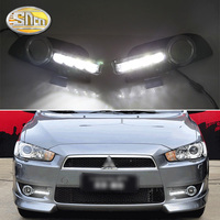 For Mitsubishi Lancer EX 2009 2010 2011 2012 2013 2014 Daytime Running Light LED DRL fog lamp Driving Yellow Turn Signal Lamp