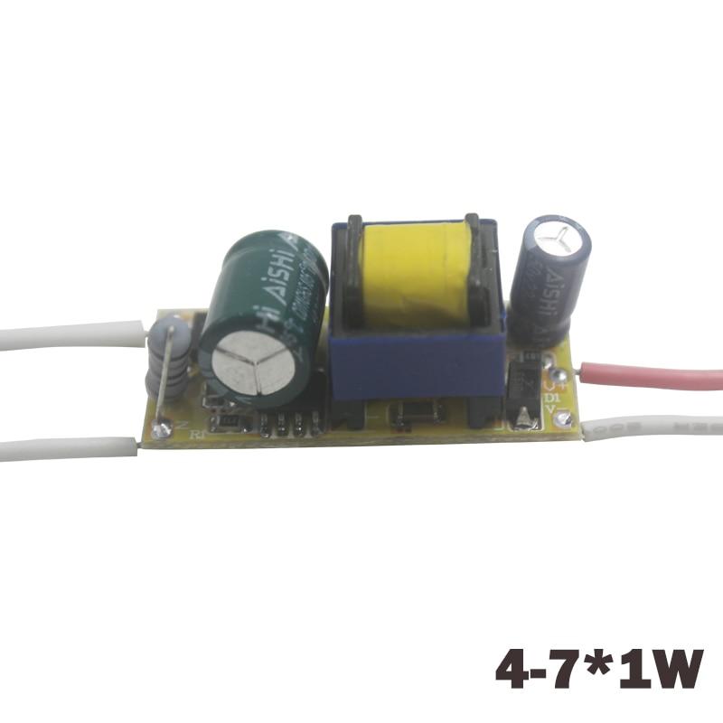4-7 W LED Sürücü AC90-265V DC12-25V Sabit Akım Led Lambalar için 240-300mA Işık Trafosu Güç Kaynağı Adaptörü DIY