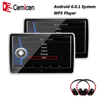Cemicen 10.1 inch Car Headrest monitor Android 6.0.1 System with WIFI IPS Touch Screen MP5 Player with USB/SD/Bluetooth/Speaker headrest monitor car headrest monitor car headrest monitor android -