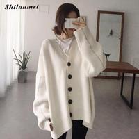 2017 Women Knitting Long Cardigan Female Casual Loose Kimono Cardigan Knitted Jumper 2017 Long Sleeve Warm