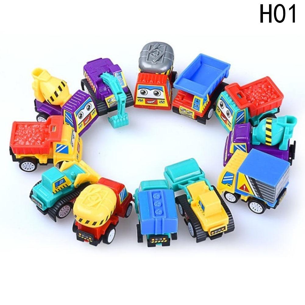 Cartoon Back To Power Car Children S Mini Car Toy Toys For Children Xmas Gift For Boys Model Style Colors Random