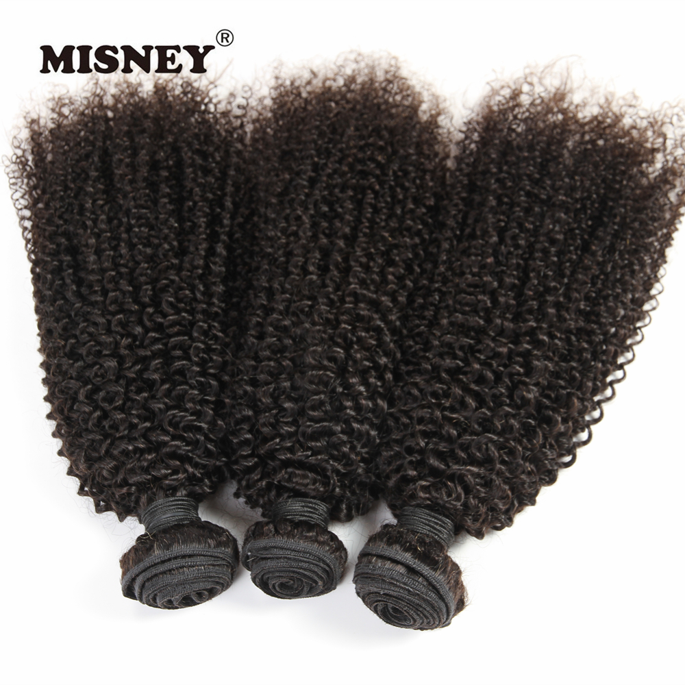 Factory Raw Human Hair Extension Kinky Curly 100% Human Hair Weaving 3 Bundles Machine D ...