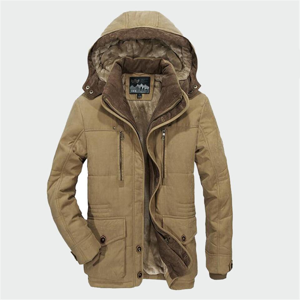Winter Parka Men Coats 2019 Thick Warm Jacket Men Cotton Hooded Outwear Warm Parka Top Plus Velvet Couple Cotton Parka Coat 4