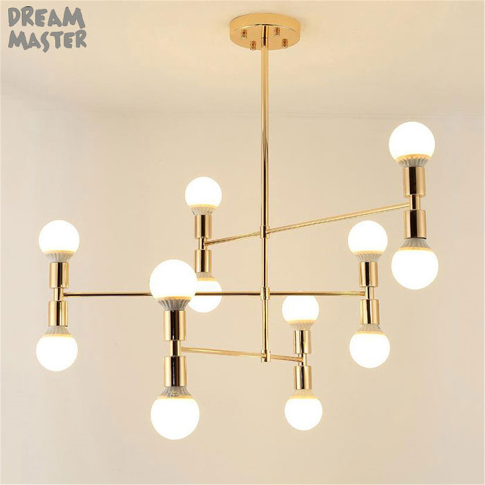 Ceiling Pendant Lights Modern Gold Pendant Lights Nordic Illumination Bedroom Suspended Lamps Home Deco Lighting Fixtures Living Room Hanging Lights