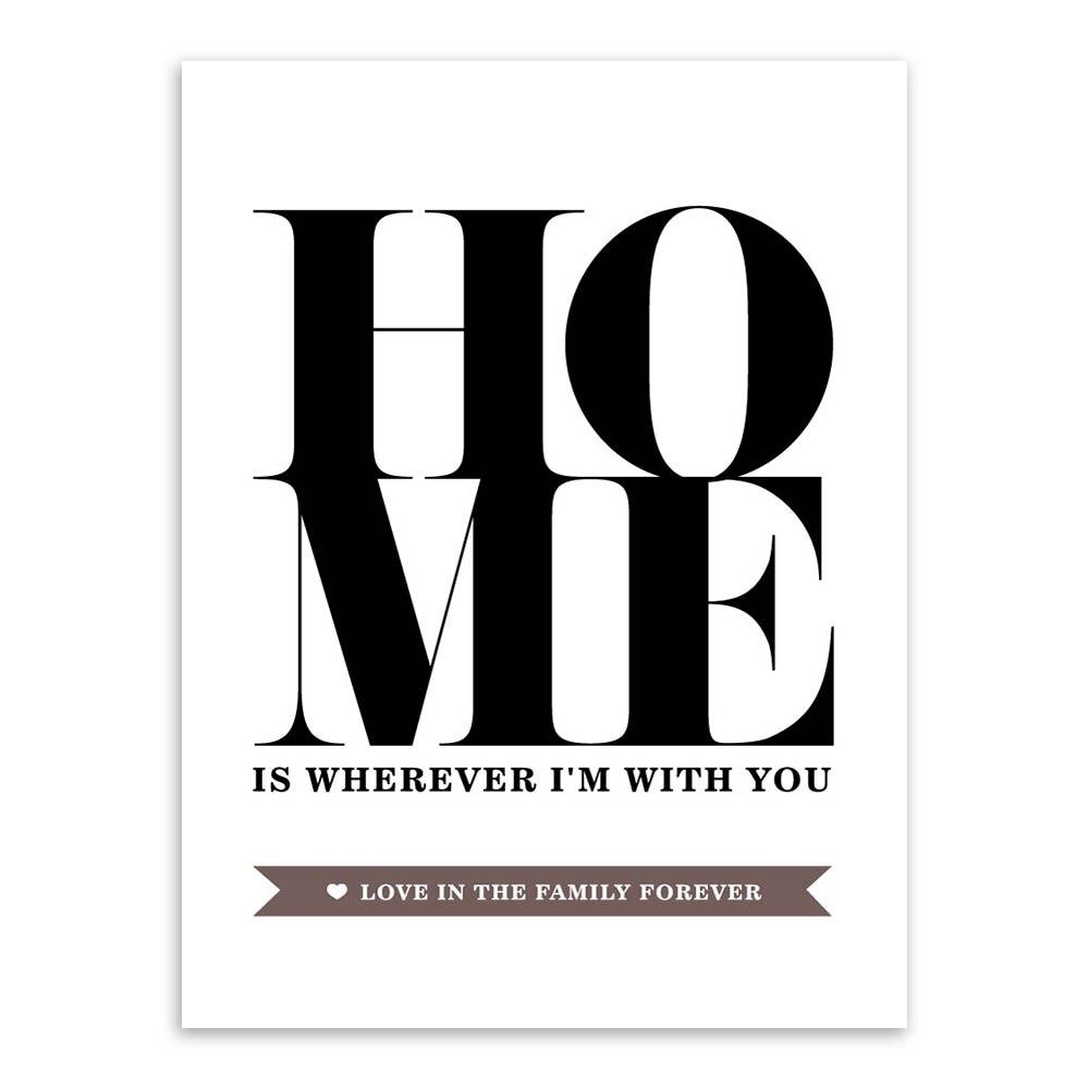 Super Citação Motivacional Grande Cartaz preto e Branco Imprimir Imagem  UM01