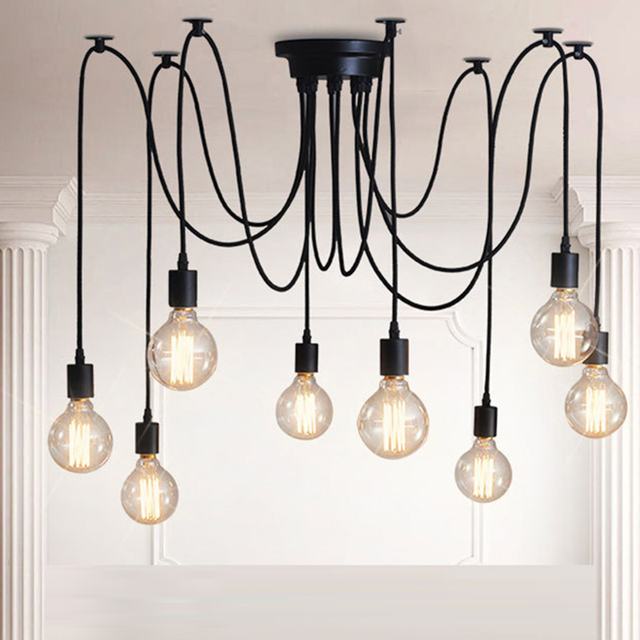 American style retro pendant vintage lights loft creative spider american style retro pendant vintage lights loft creative spider industrial chandelier lamps for living room restaurant aloadofball Image collections