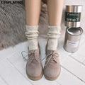 [COSPLACOOL] Новые Осенние/Зимние Теплые Оригинальные носки с небольшим дизайном из пряжи женские высококачественные однотонные носки с наполни...