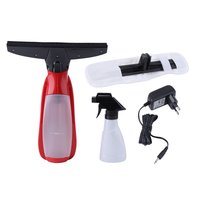 Electric Portable Hand held Cordless Window Cleaner Wiper Mirrow Car Window Vacuum Cleaner Glass Wiper Washing Tool Red