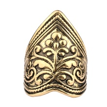 Vintage Geometric Gold Ring for Women Men Boho Silver Trendy Pattern Zinc Alloy Knuckle Party Jewelry Yuzuk